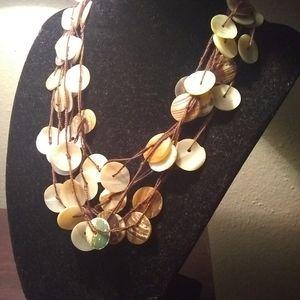 Shell necklace (multi strand)